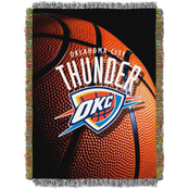 Northwest NBA Oklahoma City Thunder Photo Real Tapestry Throw