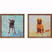Propac Images Shake Golden Dog Prints