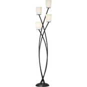 Kathy Ireland Home 69 in. Metro Crossing Floor Lamp