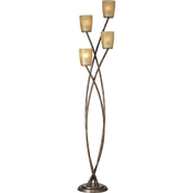Kathy Ireland Home 69 in. Metro Plaza Uplight Floor Lamp