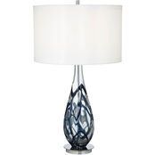 Pacific Coast Lighting Indigo Swirl Art Glass Table Lamp