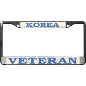 Mitchell Proffitt Korea Veteran Chrome License Plate Frame