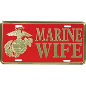 Mitchell Proffitt USMC Marine Wife Red License Plate