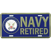 Mitchell Proffitt US Navy Retired License Plate