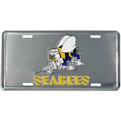 Mitchell Proffitt SEABEES Logo License Plate