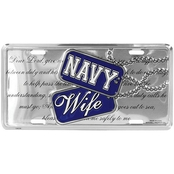 Mitchell Proffitt US Navy Wife Creed License Plate
