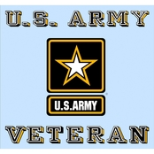 Mitchell Proffitt U.S. Army Veteran Star Logo Decal