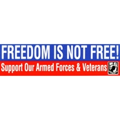Mitchell Proffitt Freedom Is Not Free POW-MIA Bumper Sticker