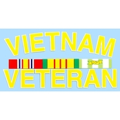 Mitchell Proffitt Vietnam Veteran Ribbons Decal