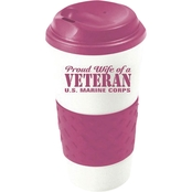 Mitchell Proffitt Proud Wife of a Veteran, Marine Corps Grip N Go Travel Mug