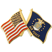 Mitchell Proffitt American and U.S. Air Force Crossed Flags Lapel Pin