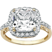 PalmBeach 10K Yellow Gold Cubic Zirconia Ring