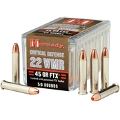 Hornady Critical Defense .22 WMR 45 Gr. FTX, 50 Rounds
