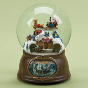 Roman Musical Santa Train Dome