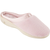 Isotoner Women's Microterry Clog Slippers with Satin Trim
