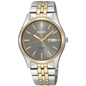 Seiko Men's Solar Two Tone Quartz Dress Watch