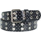 Dezine News Glitter Double Eyelet Belt
