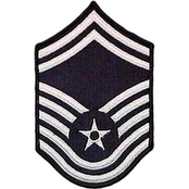 Air Force SMSgt Blue Chevron Large Rank