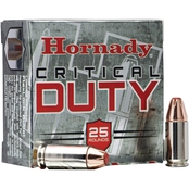 Hornady Critical Duty 9mm 135 Gr. FlexLock Duty Hollow Point +P, 25 Rounds