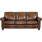 Bassett Hamilton Leather Sofa