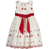 Princess Faith Little Girls Embroidered Dress