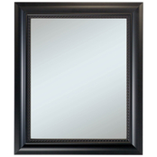 Alpine Art & Mirror Black Framed Wall Mirror with Beaded Lip