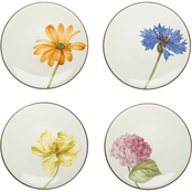Noritake Colorwave Floral 4 pc. 6 in. Appetizer Plate Set