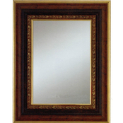 Alpine Art & Mirror Bronze with Antique Gold Lip and Edge Frame Wall Mirror