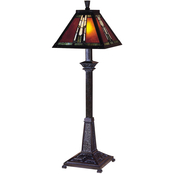 Dale Tiffany Amber Monarch Mica Buffet Lamp