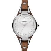 Fossil Women's Vintage Georgia Watch with Leather Strap 32mm ES3060