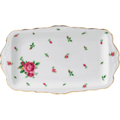 Royal Albert New Country Roses White Formal Sandwich Tray