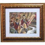 Alpine Art & Mirror Old Time Jazz by David Linanetz