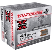 Winchester Super-X .44 Mag 240 Gr. Hollow Soft Point, 20 Rounds