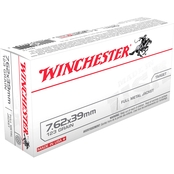 Winchester USA 7.62x39 123 Gr. FMJ, 20 Rounds