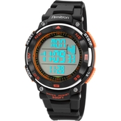 Armitron Men's Sport Orange Accent Digital Chronograph Resin Strap Watch 40/8254ORG