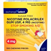 Exchange Select Sugar Free Fruit Nicotine Gum 100 Pk.