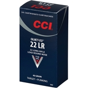 CCI Quiet Subsonic .22 LR 40 Gr. Lead Round Nose, 50 Rnd