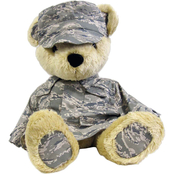 Bear Forces of America 31 in. Plush Bear in the Airman Battle Uniform (ABU)