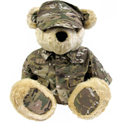 Bear Forces of America Plush Bear in the Army Multi Cam Uniform, 31 in.