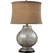 ELK Lighting Antler Hill Antique Mercury Glass Table Lamp with Shade