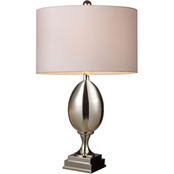 ELK Lighting Waverly Chrome Plated Glass Table Lamp with Shade