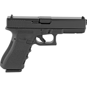 Glock 17 Gen 3 9MM 4.49 in. Barrel 10 Rds 2-Mags Pistol Black