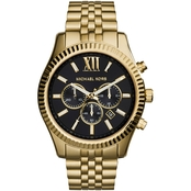 Michael Kors Women's Lexington Tri Color Chronograph with Textured Top Ring