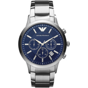 Emporio Armani Men's Classic Chronograph with Blue Dial