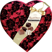 Russell Stover Assorted Chocolates Secret Lace Heart 8 Oz.