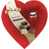 Russell Stover 8 Oz. Diamond Brooch Assorted Chocolate Heart