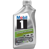 Mobil 1 Advanced Fuel Economy 0W-30 Motor Oil, 1 Qt.