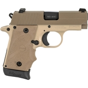 Sig Sauer P238 380 ACP 2.7 in. Barrel 7 Rnd Pistol Tan