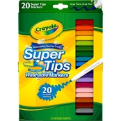 Crayola Washable Super Tips Markers 20 pc. Set