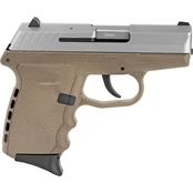 SCCY CPX-2 9MM 3.1 in. Barrel 10 Rds 2-Mags Pistol Desert Tan